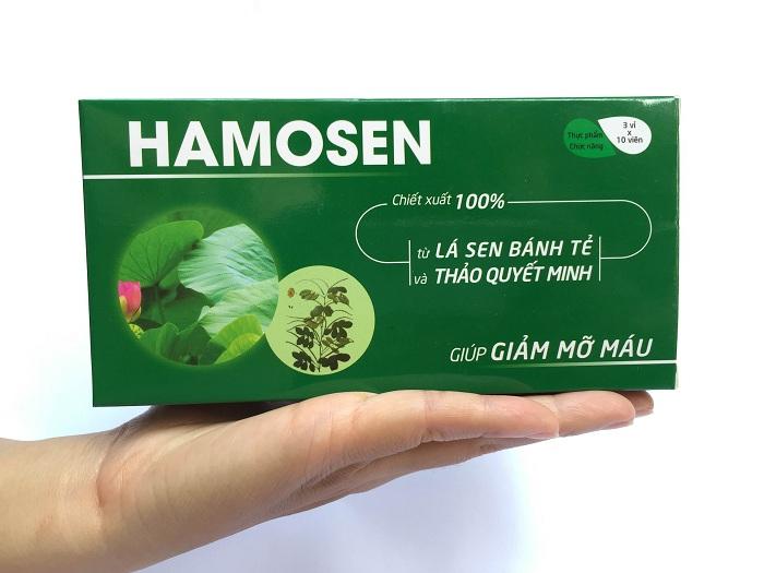 Hamosen có tác dụng làm giảm men gao cao, hạ mỡ máu