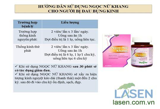 Hướng dẫn sử dụng ngọc nữ khang, điều trị đau bụng kinh, chữa đau bụng kinh, đẩy lùi đau bụng kinh