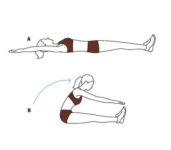 Bài tập gập bụng giảm mỡ bụng an toàn