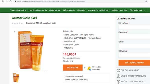 cumargold gel chính hãng giá bao nhiêu