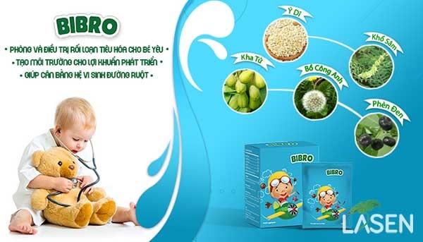 Thành phần trong bibro từ 5 thảo dược quý