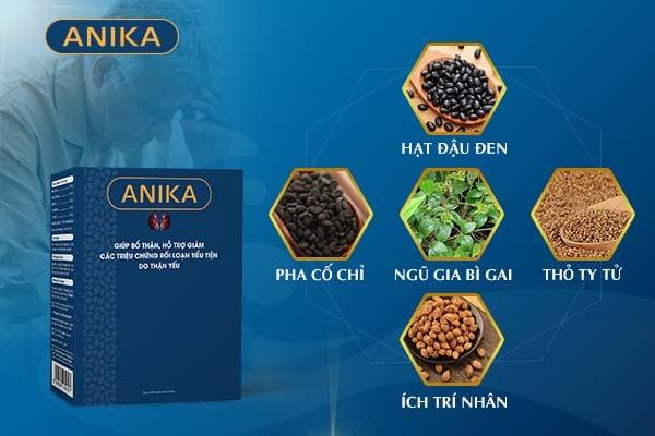 Sự khác biệt trong thành phần của viên uống Anika